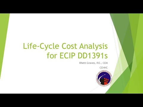 Life-Cycle Cost Analysis (LCCA) for Energy Conservation Investment Program (ECIP) DD 1391s