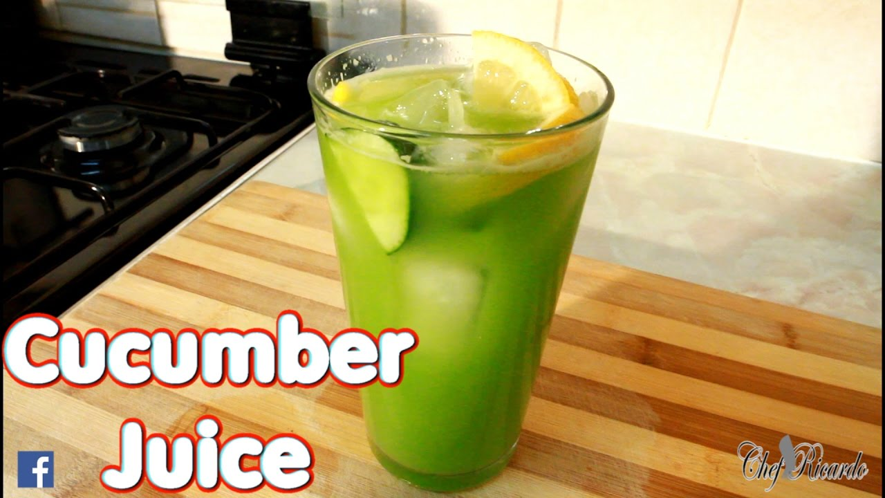 Fresh Cucumber Juice With Lemon Ginger Honey Water Service A Lot Of Ice |  Recipes By Chef Ricardo