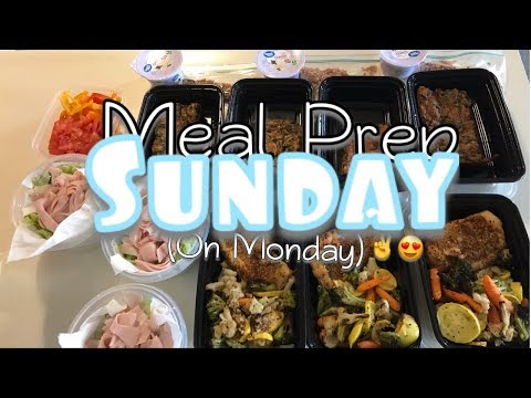 Meal Prep Sunday (on Monday)! ✔️