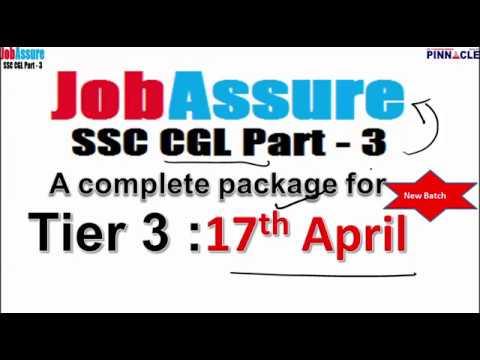 SSC CGL JobAssure Tier 3 Program : New batch from  17th April I Full rush !! Don't miss