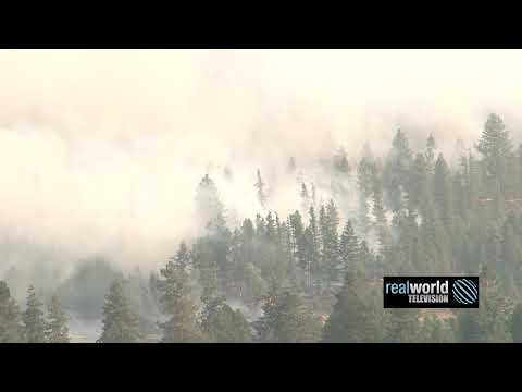 British Columbia fire footage archive. Bridesville, BC, Canada. Real World Television.