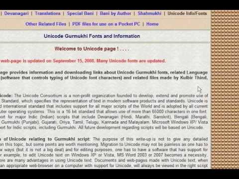 UNICODE FONTS DOWNLOAD PUNJABI