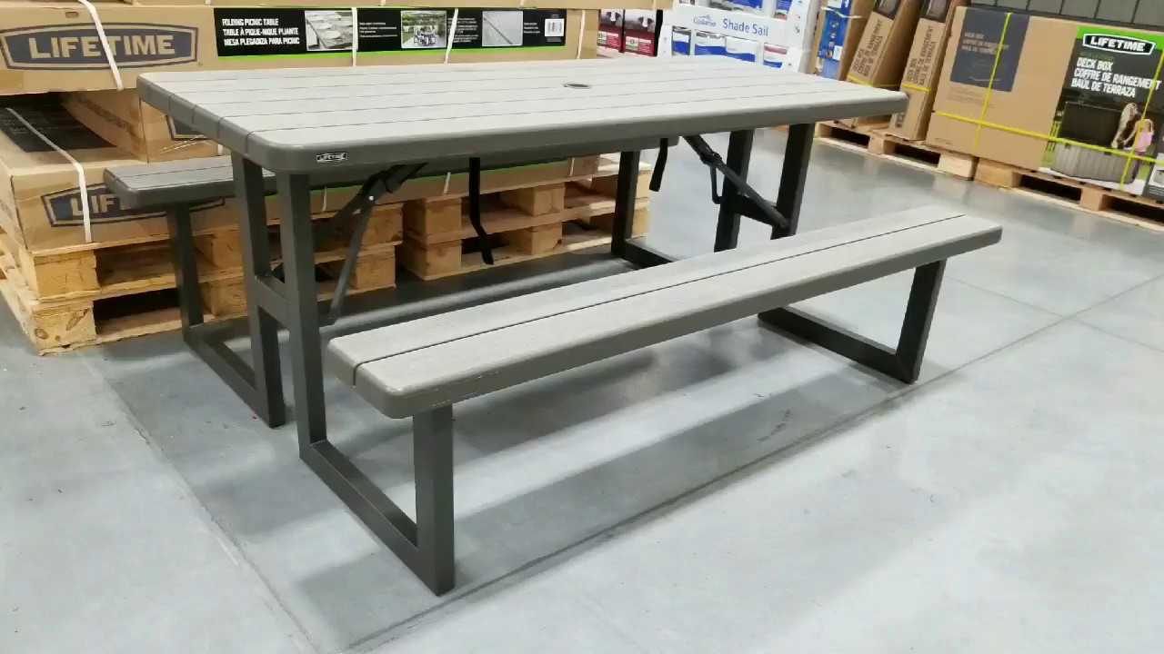 Folding Picnic Table 129