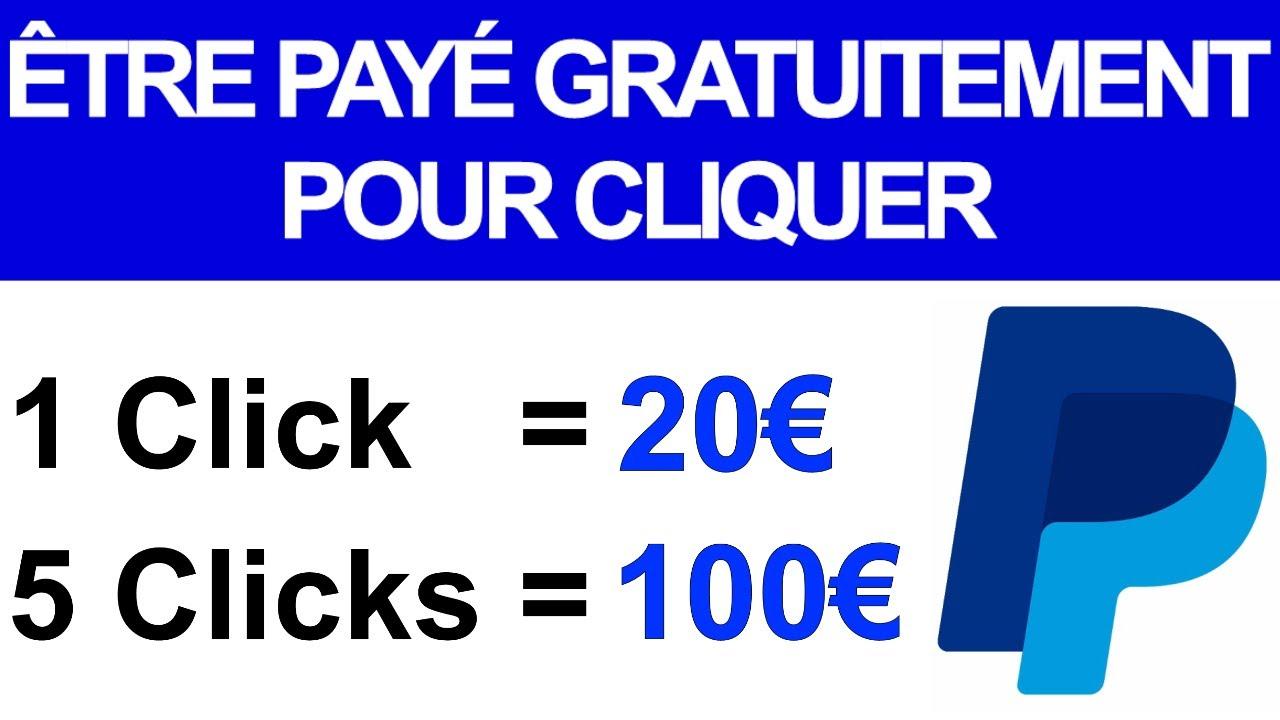 2021 - Gagner 20.00€ par CLICS(100€ pour 5 clics)GRATUIT/Gagner de l'argent en ligne, Argent Paypal