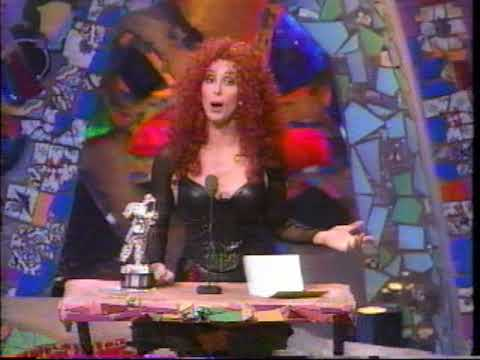 Cher presents Best Male Video at the 1991 MTV Video Music Awards