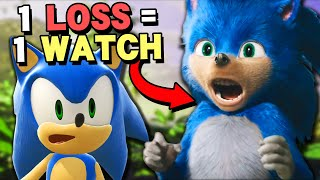 Every time I lose I watch the Sonic movie