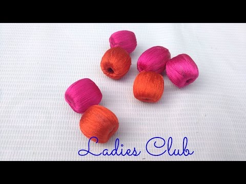 How to wrap Big Beads with Silk Thread - For Necklace I Tutorial for Beginners