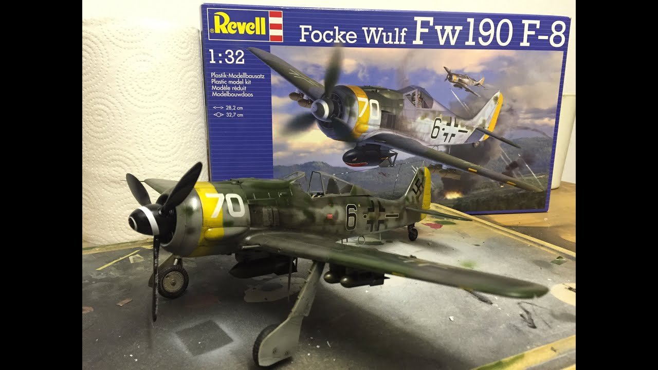 revell 1 32  Building Revell's awesome new 1:32 Fw190 F-8 kit - YouTube