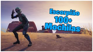 SHOWING THE SCORPION SKIN & 100 + BACKPACKS | FORTNITE