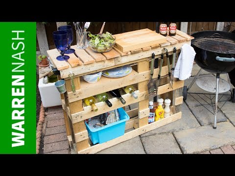 Pallet BBQ Station - Make the Best Outdoor Grill Area - Easy DIY by Warren Nash