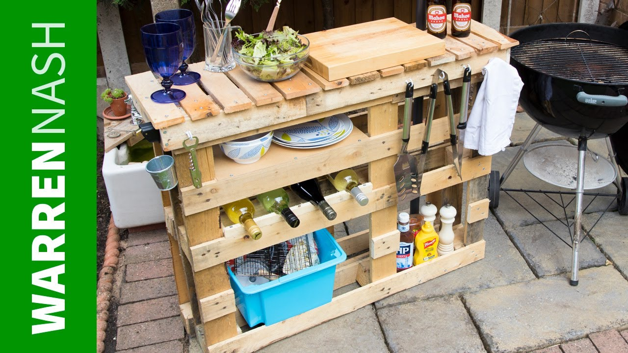 Beau Pallet BBQ Station   Make The Best Outdoor Grill Area   Easy DIY By Warren  Nash