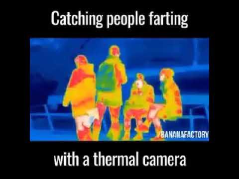 Termal kamera ya gaz çıkararak yakalanmak
