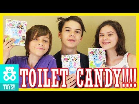 JAPANESE TOILET CANDY! Foaming Soda Toilets Moko Moko Mokolet |  KITTIESMAMA