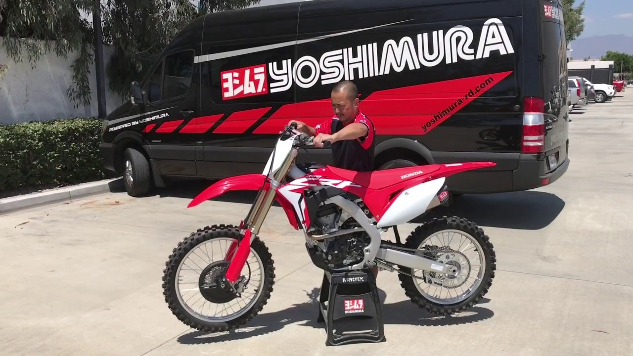 2018 19 Honda Crf250r Rs 9t Exhaust Sound Youtube