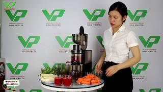 Trực tiếp ép Rau - Củ - Quả bằng máy ép trái cây Biochef 888