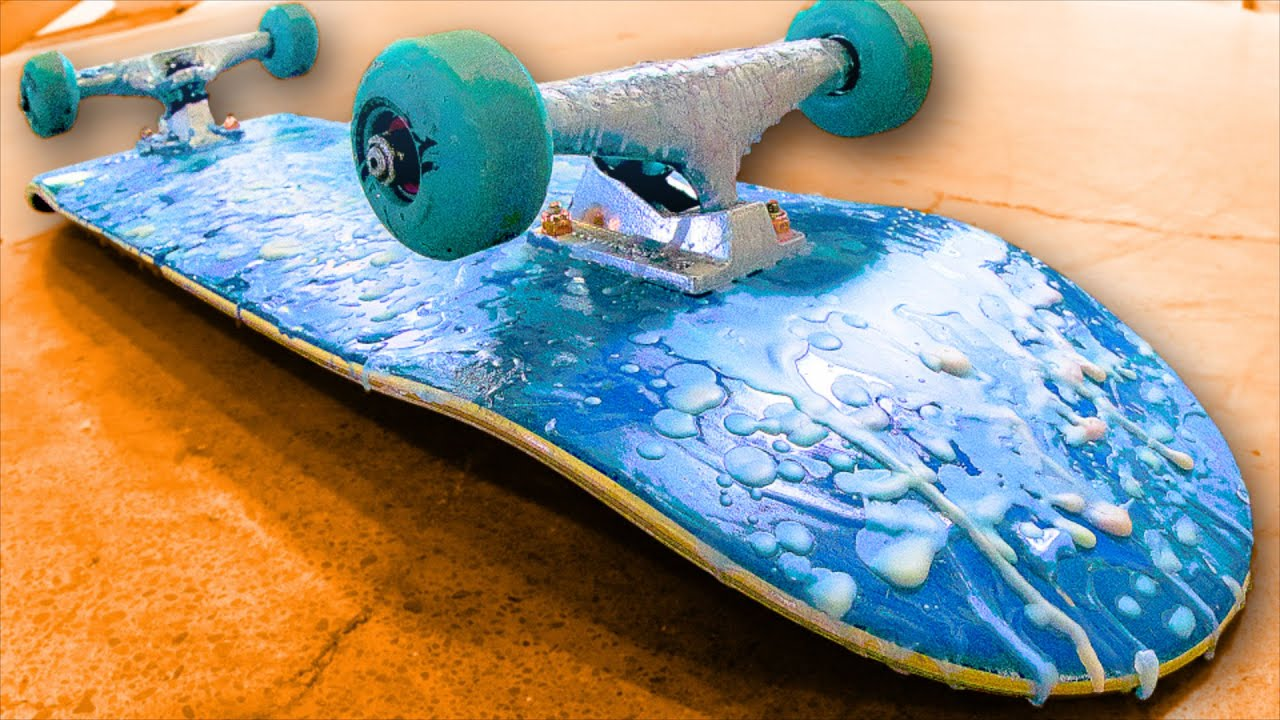 Team Nude 8 Skateboard Deck - Yellow | oxelo