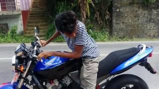 Honda hornet burnout by Janidu Nadun