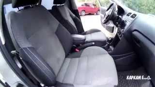 Установленные передние сидения от Skoda Fabia, Roomster в а/м VW Polo Sedan