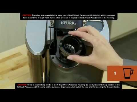 How To Clean Your Keurig Brewer Needles K Cup Pack Holder Youtube