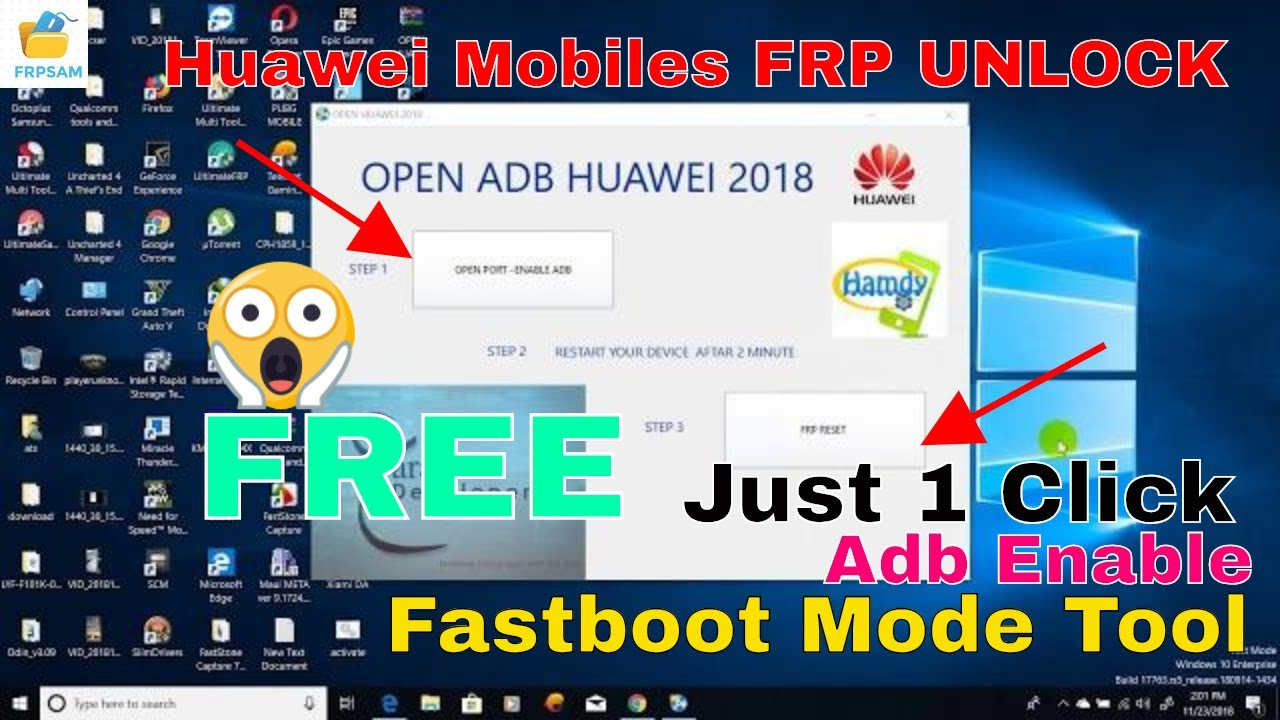 HUAWEI 2018 FRP TOOL | HUAWEI ADB Enable 2019 FRP TOOL | ALL HUAWEI MODEL  FRP | ADB Enable Frp ?
