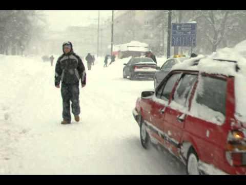 Heavy snow in Sarajevo