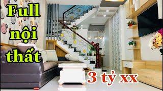 Bán nhà quận 12|Diện tích cực khủng thiết kế đẹp tặng Full nội thất giáp Gò Vấp giá rẻ bèo. 3 tỷ 800