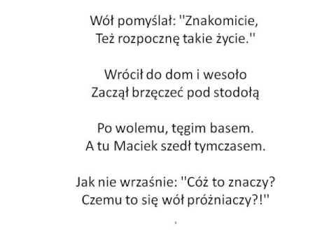 レッスン246 Jan Brzechwa Chrząszcz