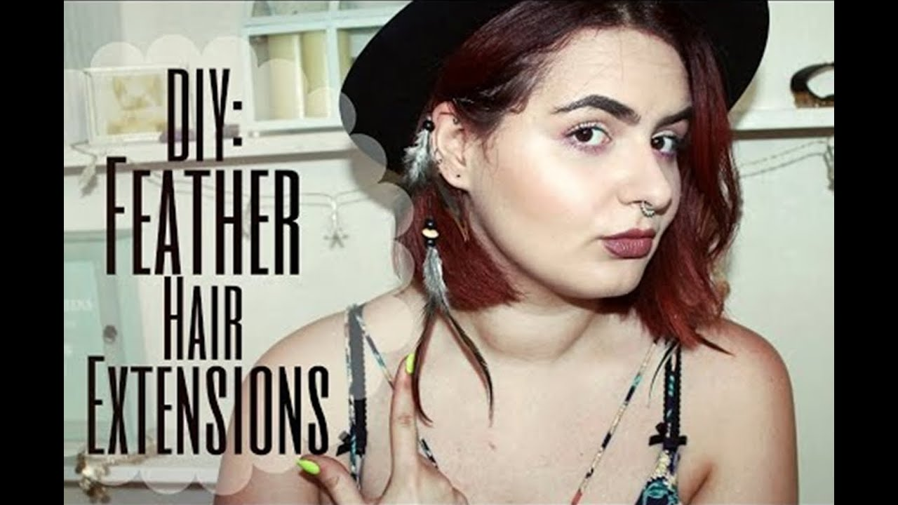 Diy Feather Hair Extensions Youtube