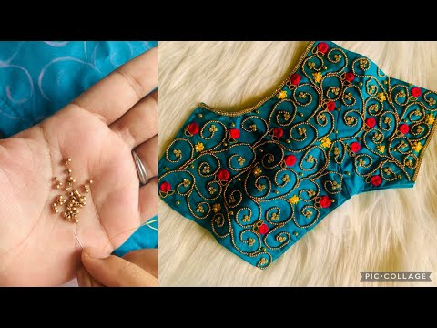 Very Grand U0026 Heavy Bead Work Bridal Blouse Design On Stitched Blouse With Normal Stitching Needle