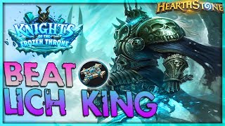 How to beat THE LICH KING [Priest] - Solo Adventure 🌟 HEARTHSTONE  | Frozen Throne Legend