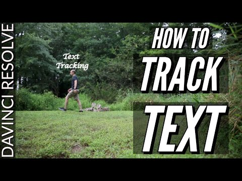 Text Tracking in Davinci Resolve