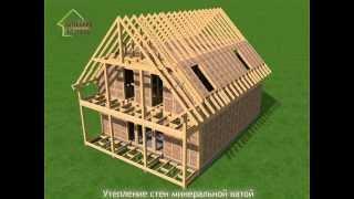 Каркасный дом видео Строительная компания