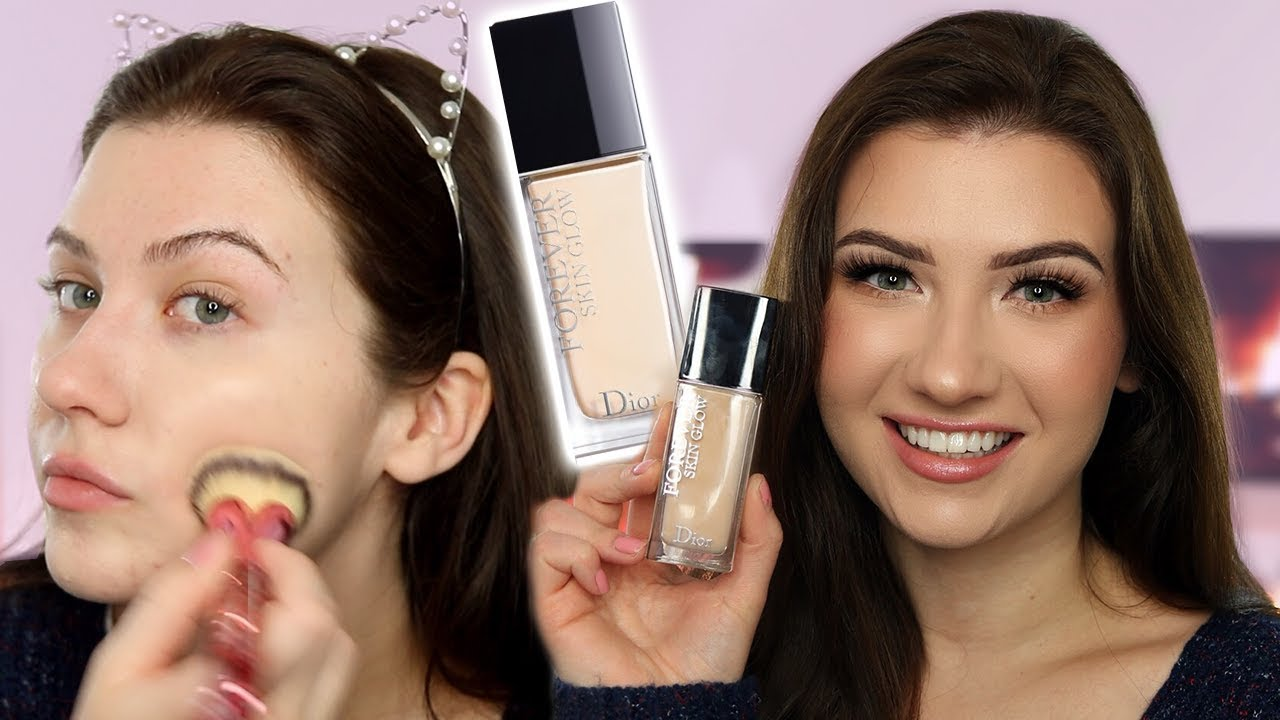 f536244ba8 THEY REFORMULATED DIOR FOREVER?! | Dior Forever Skin Glow Foundation  Review, Swatches, and Demo