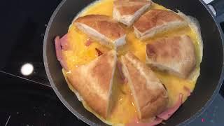 Пицца на сковороде из Яйца и Лаваша . Яйцепицца или яичница с колбасой . Все что можно есть .