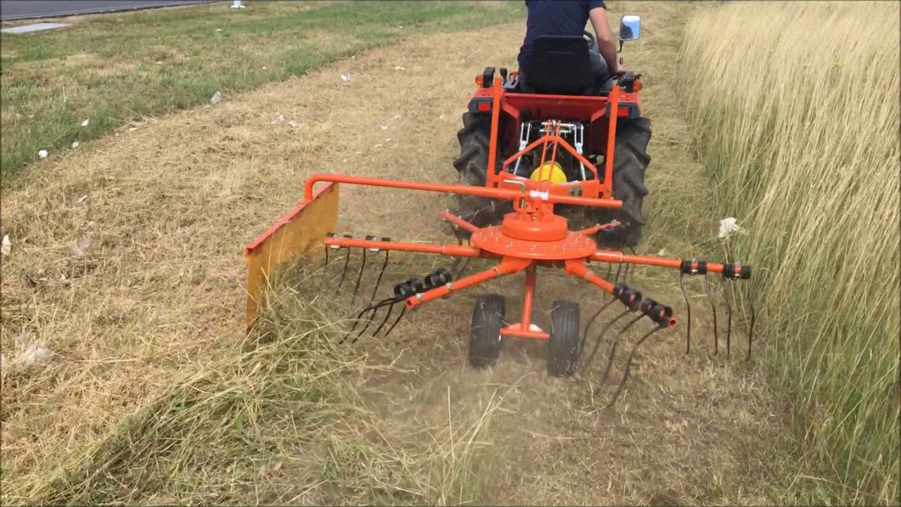 Faneur andaineur pour micro tracteur youtube - Image tracteur ...