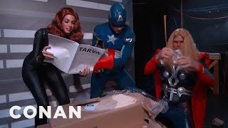 Avengers Assemble...Ikea Furniture  - CONAN on TBS