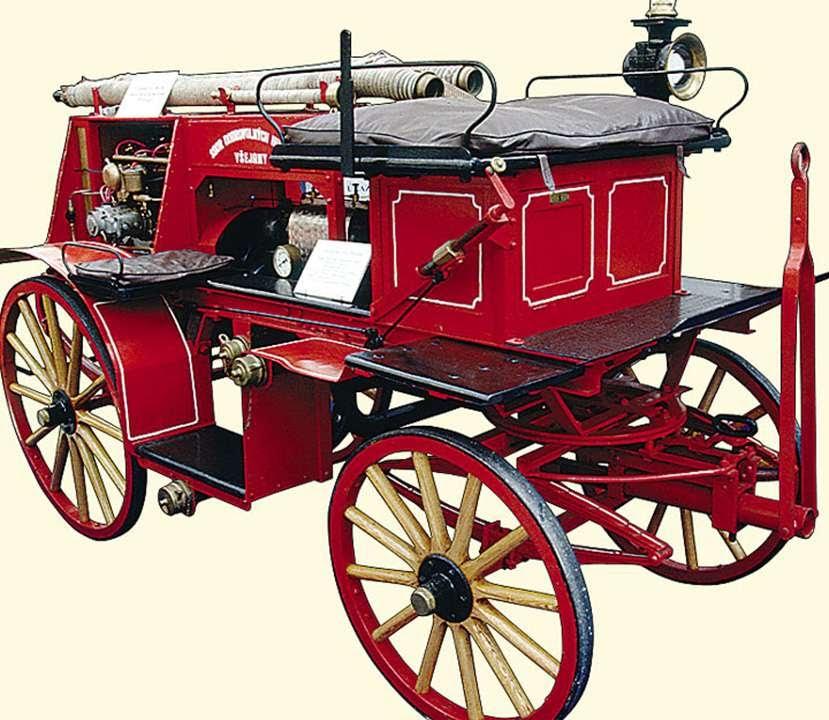 картинка старинных пожарных машин этого