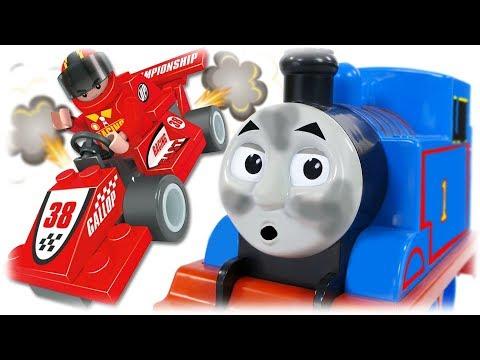 AUSINI 26102 Race Car Formula of champions, Bricks Playset Building with Thomas the Train