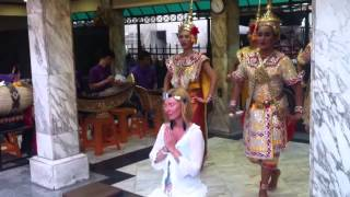 Thai Dance Blessing at the Four Faced Buddha Shrine in Bang
