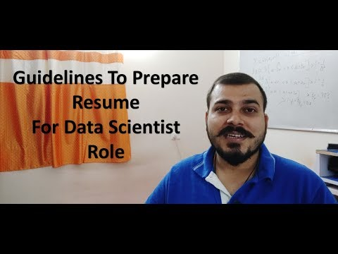 Guidelines To Prepare Resume For Data Scientist Role