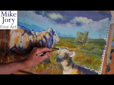 sheep painting tutorial  part 8