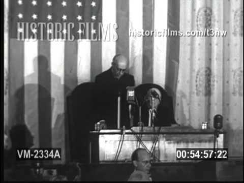 Prime Minister Jawaharlal Nehru address United States Congress - October 13, 1949