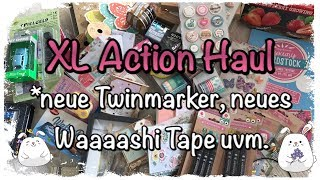 XL Action Haul deutsch Twinmarker Washitape Scrapbook Mini Album Basteltipp DIY