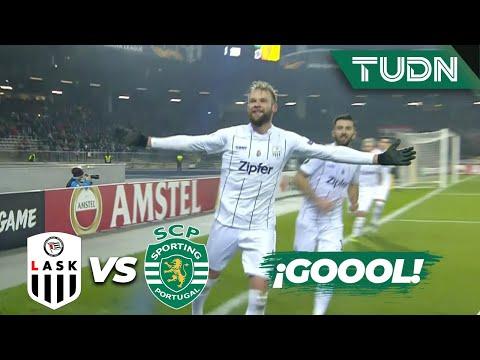 ¡Gol del LASK! Penal dramático | LASK 2 - 0 Sporting Lisboa | Europa League - J 6 - Grupo D | TUDN