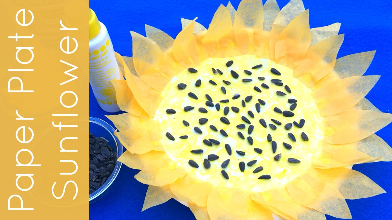 Paper Plate Sunflower Craft For Toddlers Preschool and Kindergarten & Paper Plate Sunflower Craft For Toddlers Preschool and Kindergarten ...