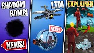 Golf & Pilot Skins, Shadow Bomb, Plane LTM, Baller Nerf, Inferno Pack Explained! (Fortnite News)