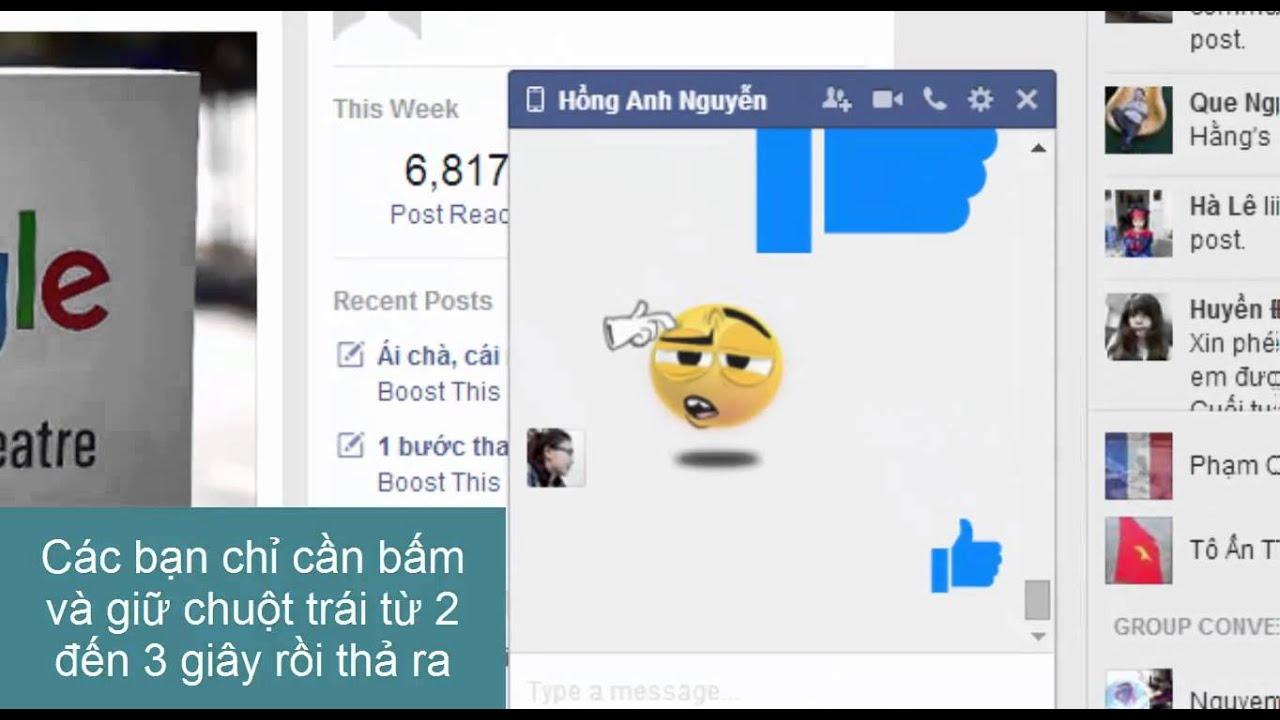 QuanTriMang - Cách gửi nút Like to dần trong tin nhắn Facebook - YouTube