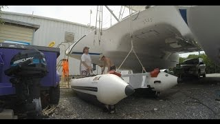 Sailboat Refit - Episode 3 - Hoisting a Dinghy, Coolmatic repair, & Navpod Fabrication
