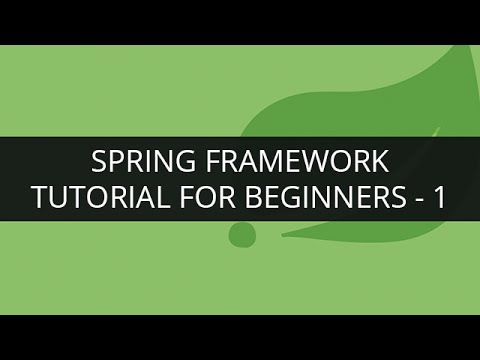 Spring Framework Tutorial 1 Spring Framework Tutorial For