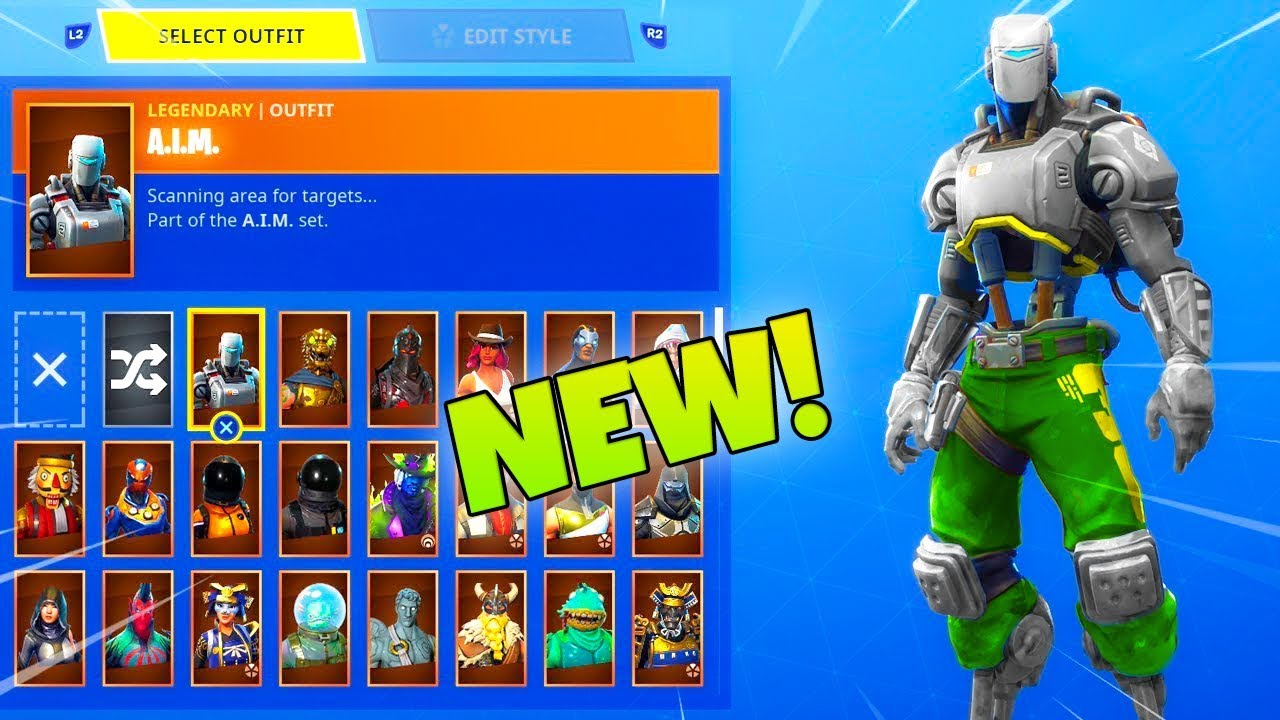 The New Customizable A I M Skin Color Week 10 Rewards Fortnite